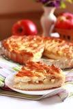Jabłczany kulebiak z kratownicą Obrazy Royalty Free