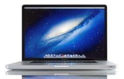 Jabłczany MacBook Pro Zdjęcia Stock