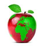 jabłczany mapy czerwieni świat zdjęcie royalty free