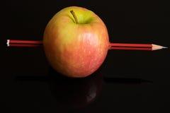 Jabłczany ołówek Zdjęcie Royalty Free