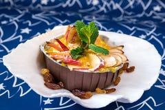 Jabłczany omelette z mennicą Fotografia Royalty Free