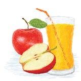 Jabłczany owocowy sok ilustracji