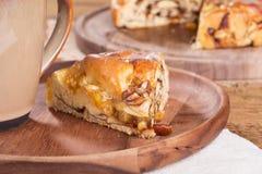Jabłczany Pecan cukierki chleb fotografia royalty free