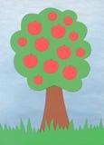 jabłczany podaniowy drzewo Zdjęcia Royalty Free