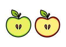 Jabłczany rysunek Zdjęcia Royalty Free