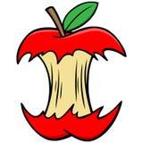 Jabłczany sedno royalty ilustracja