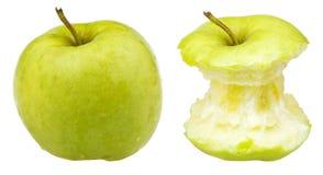 Jabłczany sedno i cały babcia kowal Obraz Royalty Free