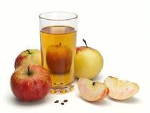 Jabłczany sok i jabłka Zdjęcie Stock