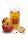 Jabłczany sok i jabłka Zdjęcia Royalty Free