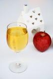 Jabłczany sok i jabłko Fotografia Stock