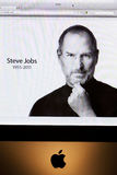 Jabłczany strony internetowej uznanie Steve Jobs zdjęcia stock