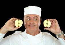 jabłczany szef kuchni obrazy royalty free