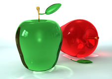 jabłczany szkło fotografia royalty free