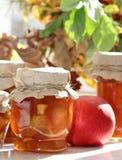 jabłczany tła dżemu fotografii biel Fotografia Stock