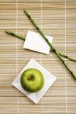jabłczany tła dekoraci talerza rattan Obrazy Stock