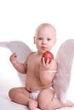 jabłczany tła dziecka chwyta biel Zdjęcia Stock