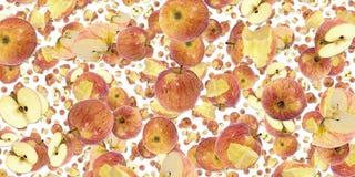 Jabłczany tło (na bielu) Fotografia Royalty Free