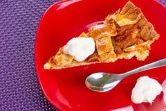 Jabłczany tarta deser Fotografia Royalty Free