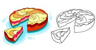 jabłczany wyśmienicie kulebiak Zdjęcie Stock