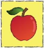 jabłczany wyśmienicie ramowy plastikowy kolor żółty royalty ilustracja