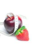 jabłczanych duży soczystych dokrętek czerwone dojrzałe truskawki Obraz Stock