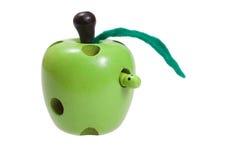 jabłczanych dzieci zabawek drewniana dżdżownica obrazy royalty free