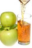 jabłczanych jabłek zielony sok obraz royalty free