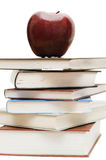 jabłczanych książek palowa czerwień Fotografia Royalty Free