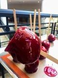 jabłek cukierku karmelu czekoladowy odbicia toffee zdjęcia royalty free