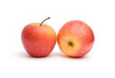 jabłek czerwieni dwa kolor żółty Zdjęcie Royalty Free
