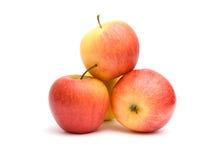 jabłek czerwieni kolor żółty Zdjęcie Stock