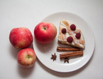Jabłek i chałupa sera kulebiak Zdjęcie Stock