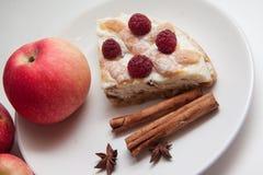 Jabłek i chałupa sera kulebiak Fotografia Royalty Free
