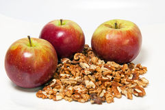 jabłek orzech włoski obraz stock