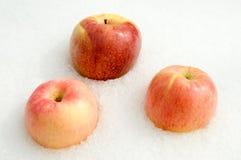 jabłek różowy śniegu trzy biel Zdjęcie Stock