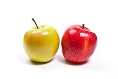jabłek tła dof dojrzały płytki biel Zdjęcie Royalty Free