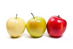 jabłek tła dof dojrzały płytki biel Zdjęcie Stock