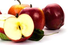 jabłek tła fotografii serie biały Zdjęcie Royalty Free