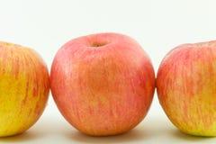 jabłek tła trzy biel Obrazy Royalty Free
