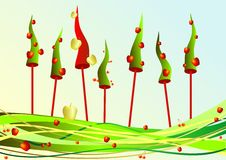 jabłek wiśni nowy s drzewa rok Obraz Royalty Free