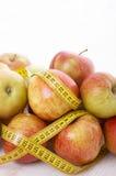 jabłek zieleni metru czerwień Obraz Royalty Free