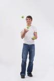 jabłka żongluje 3 zdjęcia stock