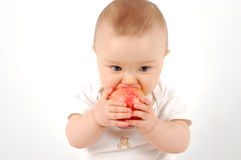 jabłka 21 dziecko szczęśliwy Obraz Royalty Free