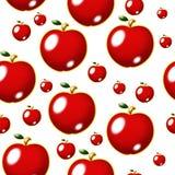 jabłka bezszwowy deseniowy czerwony Obraz Stock