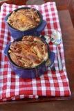 jabłka chlebowy brioche masła pomarańcze pudding obraz stock