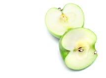 jabłka ciący część biel Fotografia Stock