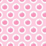 jabłka deseniują bezszwowego Obraz Royalty Free
