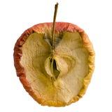 jabłka gnicie odizolowywający plasterek Zdjęcie Royalty Free