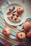 Jabłka i chałupa ser kish Obrazy Royalty Free