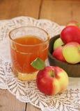 Jabłka i jabłczany sok Obrazy Royalty Free